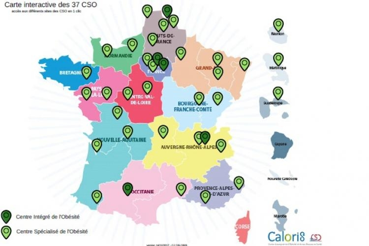 Carte interactive des 37 CSO